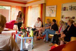 Tijdens een gratis workshop voor moeders